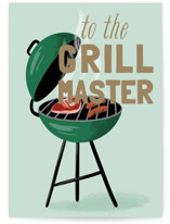 This is a green fathers day card by Everett Paper Goods called Grill-iant with standard printing on signature in greeting cards.