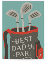 This is a green fathers day card by Michelle Taylor called A Great Dad with standard printing on signature in greeting cards.