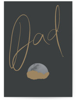 This is a black fathers day card by Melissa Agular called Moon & Beyond with standard printing on signature in greeting cards.