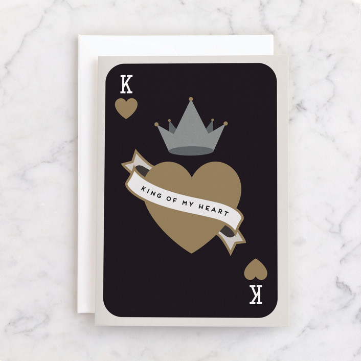 """""""King Of My Heart"""" - Individual Father's Day Greeting Cards in Ink by Maria Alou."""
