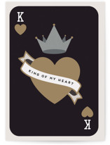 This is a grey fathers day card by Maria Alou called King Of My Heart with standard printing on signature in greeting cards.