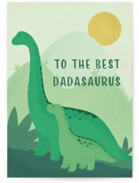 This is a green fathers day card by Tennie and Co. called Dino Dad with standard printing on signature in greeting cards.