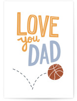 This is a blue fathers day card by Laurent Collective called Hoop it Up Dad! with standard printing on signature in greeting cards.