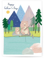This is a blue fathers day card by Nikita Jariwala called special celebration with standard printing on signature in greeting cards.