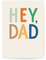 This is a beige fathers day card by Alethea and Ruth called Hey Dad Thanks with standard printing on signature in greeting cards.