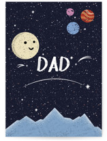 This is a blue fathers day card by Kristen Marie called stay curious with standard printing on signature in greeting cards.