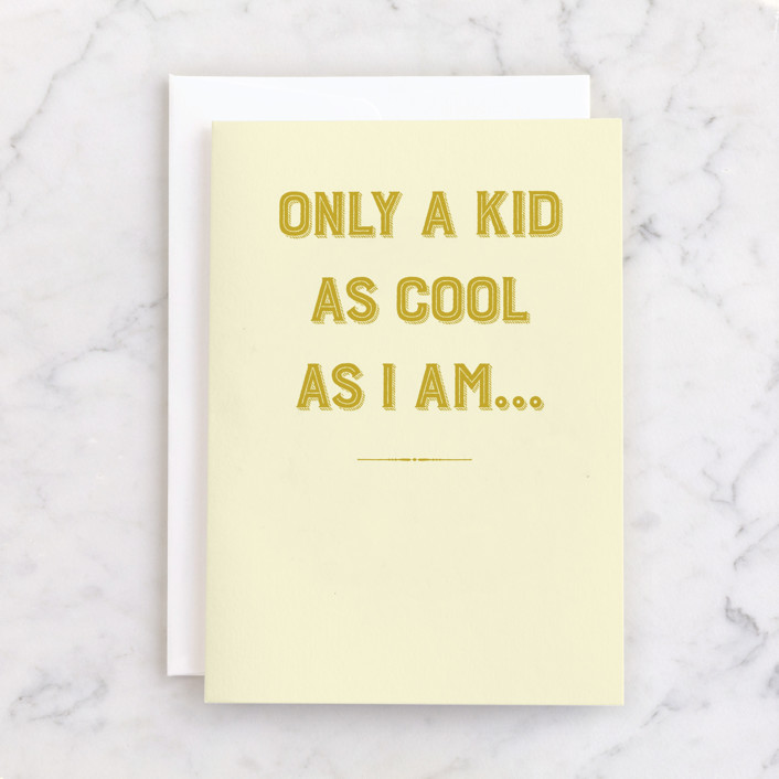 """""""Cool Dad"""" - Individual Father's Day Greeting Cards in Mustard by Sarah Cohn."""