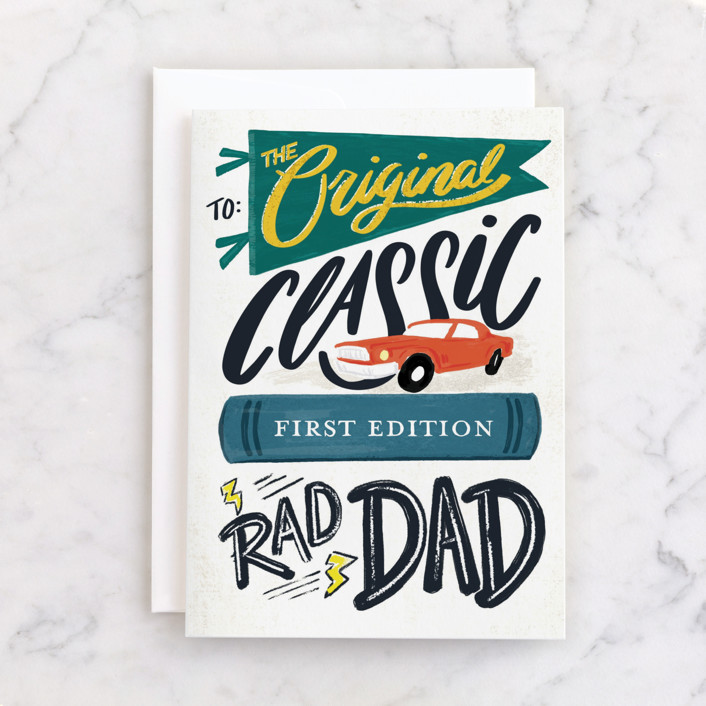 """""""To the Original"""" - Individual Father's Day Greeting Cards in Cream by Shiny Penny Studio."""