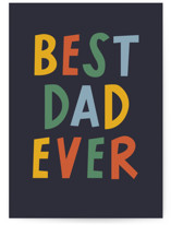 This is a colorful fathers day card by Jessica Corliss called Everything and more dad with standard printing on signature in greeting cards.