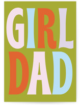 This is a green fathers day card by Baumbirdy called Girl Dad Rock with standard printing on signature in greeting cards.