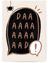 This is a beige fathers day card by Cindy Chu called DAAAAAAAAD with standard printing on signature in greeting cards.