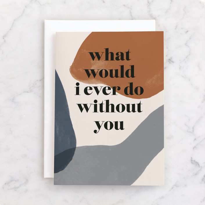"""""""Not without you"""" - Individual Father's Day Greeting Cards in Stone by Creo Study."""