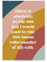 This is a blue fathers day card by Jessica Corliss called rollercoaster with standard printing on signature in greeting cards.
