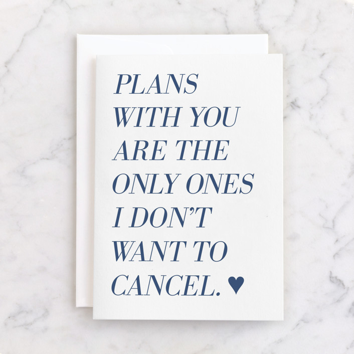 """""""Uncancelled Plans"""" - Individual Masculine Birthday Greeting Cards in Parchment by Laura Condouris."""