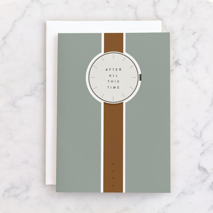 """""""All this Time"""" - Individual Masculine Birthday Greeting Cards in Stone by Julie Murray."""