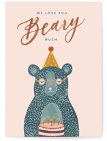 This is a pink birthday cards for him by ink moth creative called Beary Much with standard printing on signature in greeting cards.