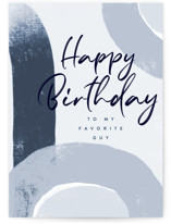 This is a blue birthday cards for him by Nicoletta Savod called Favorite Guy with standard printing on signature in greeting cards.