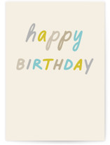 This is a beige birthday cards for him by Louise Kay called Great Day with standard printing on signature in greeting cards.