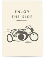 This is a beige birthday cards for him by Tennie and Co. called Ride with standard printing on signature in greeting cards.