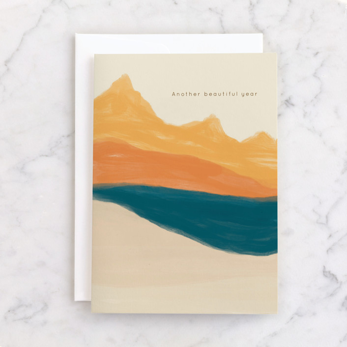 """""""The Journey"""" - Individual Masculine Birthday Greeting Cards in Desert by Adelyn T.."""