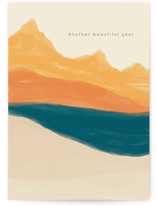 This is a orange birthday cards for him by Adelyn T. called The Journey with standard printing on signature in greeting cards.