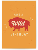 This is a orange birthday cards for him by Tennie and Co. called Buffalo with standard printing on signature in greeting cards.