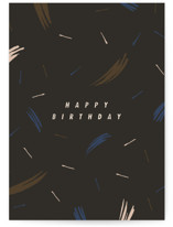This is a black birthday cards for him by Alex Roda called Dubliner with standard printing on signature in greeting cards.