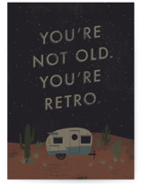 This is a black birthday cards for him by Bonnie Davis called You're Retro with standard printing on signature in greeting cards.