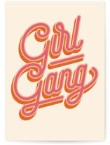 This is a orange birthday cards for her by Robert and Stella called Girl Gang with standard printing on signature in greeting cards.