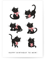 This is a black birthday cards for her by Kampai Designs called Purrfect with standard printing on signature in greeting cards.