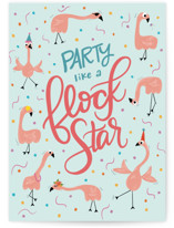 This is a blue birthday cards for her by Cindy Reynolds called Flock Star with standard printing on signature in greeting cards.