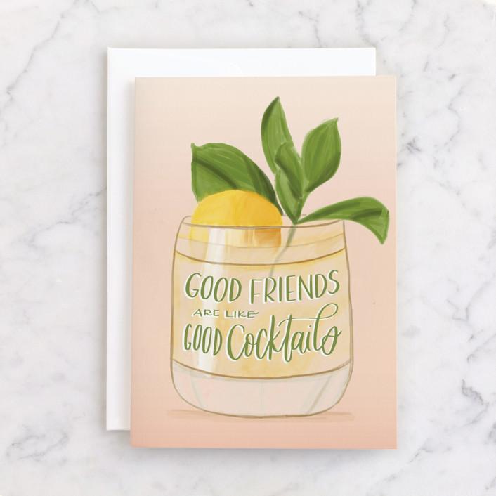 """I've Got The Tab"" - Individual Feminine Birthday Greeting Cards in Lemon by Carolyn Kach."