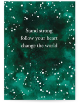 This is a green birthday cards for her by raven erebus called Change the World with standard printing on signature in greeting cards.