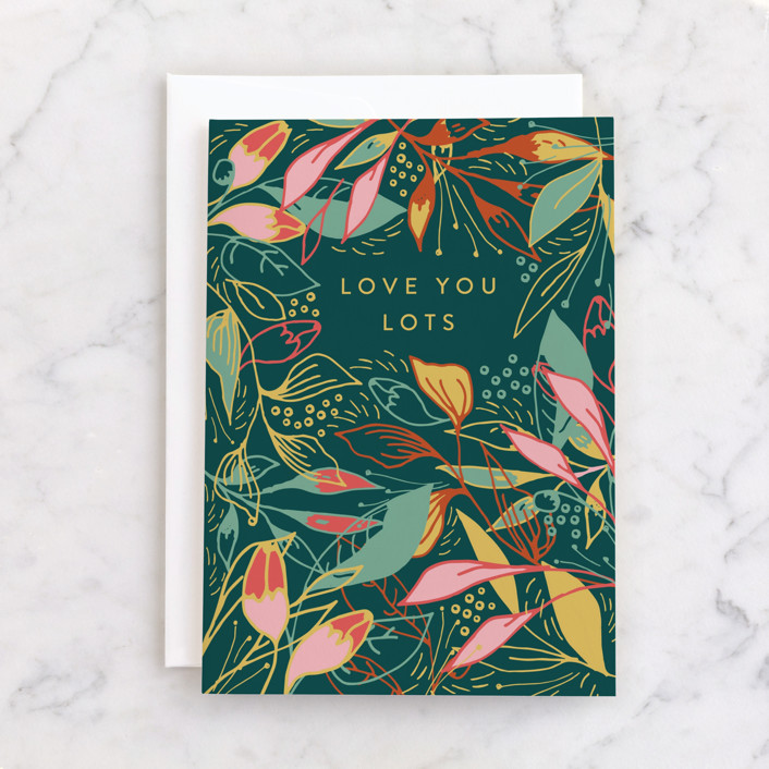 """""""Tropical mess"""" - Individual Feminine Birthday Greeting Cards in Forest by Lucrecia."""