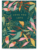 This is a green birthday cards for her by Lucrecia called Tropical mess with standard printing on signature in greeting cards.