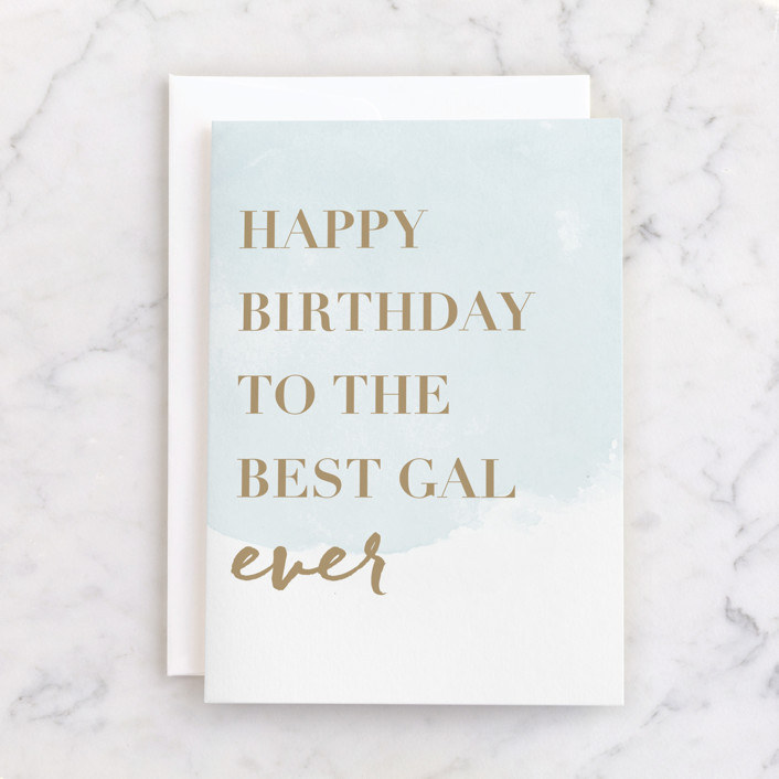 """""""Best Mom Ever"""" - Individual Feminine Birthday Greeting Cards in Mint by Stacey Meacham."""