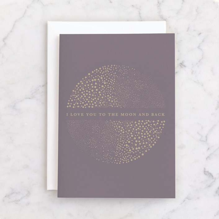 """""""Constellation"""" - Individual Feminine Birthday Greeting Cards in Mauve by Lucrecia."""