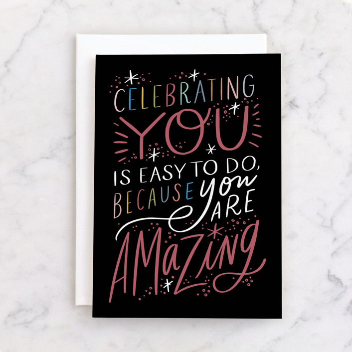 """""""Celebrating You"""" - Individual Feminine Birthday Greeting Cards in Onyx by Alethea and Ruth."""