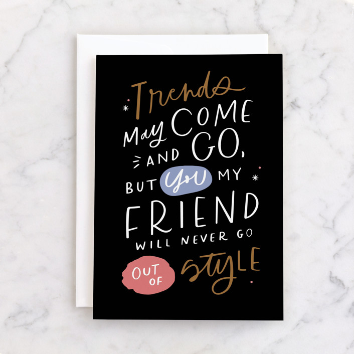 """""""Never Go out of style"""" - Individual Feminine Birthday Greeting Cards in Ink by Kristen Smith."""