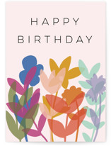 This is a pink birthday cards for her by Morgan Kendall called Rainbow Garden with standard printing on signature in greeting cards.