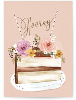 This is a beige birthday cards for her by Petra Kern called Hooray HBD with standard printing on signature in greeting cards.