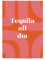 This is a orange birthday cards for her by Shari Margolin called Tequila all día with standard printing on signature in greeting cards.