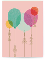 This is a pink birthday cards for her by Bethan called Gold Tassles with standard printing on signature in greeting cards.