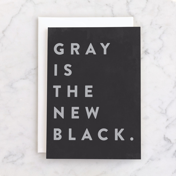 """New Black"" - Individual Feminine Birthday Greeting Cards in Ink by Gwen Bedat."