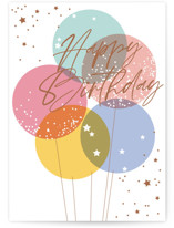 This is a colorful birthday cards for her by Everett Paper Goods called Balloon Bunch with standard printing on signature in greeting cards.