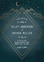 Mountain Sky Foil-Pressed Wedding Invitation Petite Cards