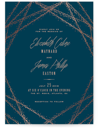 photo of Starcrossed Foil Pressed Wedding Invitation Petite Cards