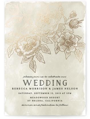 Wedding Etching Foil-Pressed Wedding Invitation Petite Cards