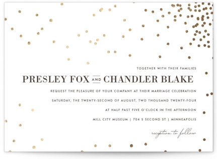 photo of Thrilling Foil Pressed Wedding Invitation Petite Cards