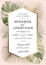 Palm Springs Foil-Pressed Wedding Invitation Petite Cards